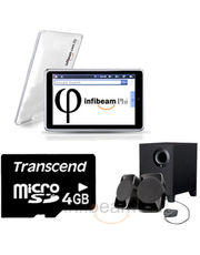 Infibeam Phi: Android+ Creative SBS A120 Speaker+ Transcend Micro SD Cards