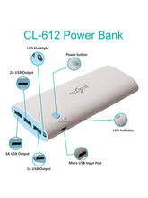 Callmate 20000mAh CL-612 Power Bank with 3 USB Ports (Any Color)