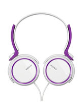 Sony MDR-XB250/V On The Ear Headphones, Violet