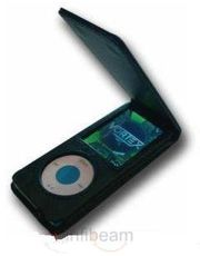 Apple iPod Nano 5th Generation Black Flip Leather