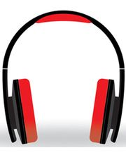 Portronics Quads Audio Headphone, Grey Red