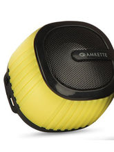 Amkette Trubeats Pixie Portable Bluetooth Speaker And Mic, Yellow