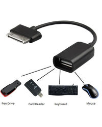 Callmate OTG Cable For Samsung Tab 30 Pin (P3100, P5100, N8000, P6800), 0,  black