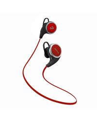 Plugtech Go Wireless Earbuds with Mic and Music Controls,  red