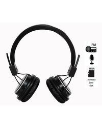 High Coins HT-11 Wired Headphones with inbuilt FM Radio & Memory Card Player,  grey