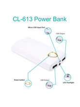 Callmate 20000mAh CL-613 Power Bank with Two USB Ports
