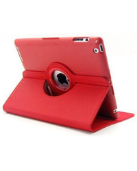 Callmate 360 Rotating Case Cover for Apple iPad Mini 2 with Free Screen Guard,  red