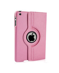 Callmate 360 Rotating Leather Cover Case For iPad Mini,  pink, 0