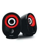 Philips SPA-50 2.0 Speaker With USB Plug, Black Re...