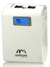 AMBRANE POWER BANK P-1000 (10400 mAh capacity), white