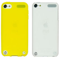 Soft Skin Combo Cover With Transparent White Hard Case For Ipod Touch 5