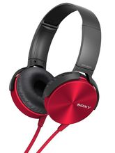 Sony MDR-XB450 Extra Bass On-Ear Headphones (Red)