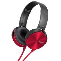 Sony MDR-XB450 Headphone,  red