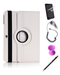 Callmate 360 Degree Rotating Cover Case Combo 2 for Samsung Galaxy Tab 4 10.1,  white