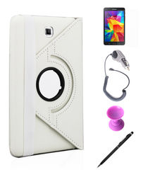 Callmate 360 Degree Rotating Cover Case Combo 2 for Samsung Galaxy Tab 4 8.0,  white