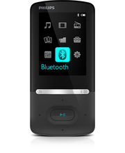 Philips Azure 4 GB Mp4 Player (SA5AZU04KF), black