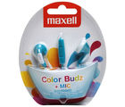Maxell in ear color Budz Earphone with Mic, blue