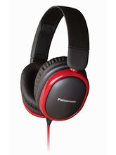 Panasonic RP-HBD250 Headphones, Black red