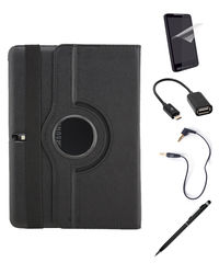 Callmate 360 Degree Rotating Cover Case Combo 1 for Samsung Galaxy Tab 4 10.1,  black