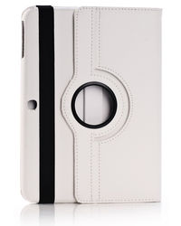 Callmate 360 Degree Rotating Cover Case for Samsung Galaxy Tab 4 10.1 T530/T531/T535,  white