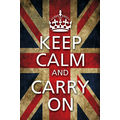 Keep calm & carry on - flag, 12x18 inches