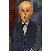 Portrait of Max Jacob by Amedeo Modigliani, 15 x 24 inches