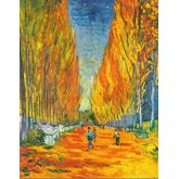 L'Allee des Alyscamps by Van Gogh, 18 x 23 inches