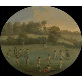 A Game of Cricket, 28 x 24 inches
