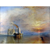 The Fighting Temeraire Tugged to Her Last Berth to be Broken by JMW Turner, 32 x 24 inches