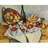 Still Life With Bottle and Apple Basket by Paul CÃ © zanne, 23 x 18 inches