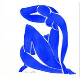 Nu-Assis by Henri Matisse, 19 x 18 inches