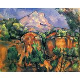 Mont Sainte Victoire And Hamlet Near Gardanne by CÃ © zanne, 36 x 24 inches