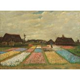 Flower Beds In Holland by Van Gogh, 24 x 18 inches