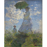 Woman With A Parasol Madame Monet and Her Son by Claude Monet, 18 x 22 inches