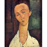Portrait of Lunia Czechowska by Amedeo Modigliani, 18 x 22 inches
