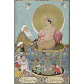 Jahangir Preferring a Sufi Sheikh to Kings, 12 x 18 inches