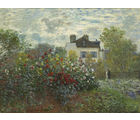 The Artist's Garden in Argenteuil (A Corner of the Garden with Dahlias) , 1873 by Claude Monet, 18 x 18 inches