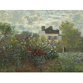 The Artist's Garden in Argenteuil (A Corner of the Garden with Dahlias) , 1873 by Claude Monet, 24 x 18 inches