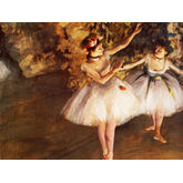 Two Dancers On Stage by Edgar Degas, 24 x 18 inches