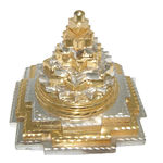 Divya Mantra Divine Meruprushtha Shree Yantra in Gold and Silver Finish