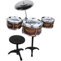 Saffire Kids Jazz Drum with Stand and Seat, multicolor
