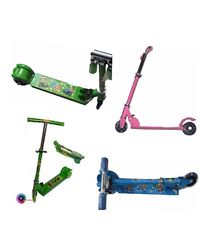 Shine World Kids Foldable 3 Wheel Scooter Toys Perfect Gift Item, multicolor