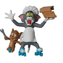 Tom and Jerry Express Pizza Action Figure, multicolor