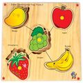 Skillo Junior Identification Tray (With Knobs) Fruits I (Multicolor)