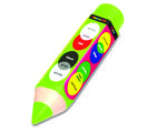 Buddyz Pencil - Shaped Pencil Box - Colours for Kids, multicolor