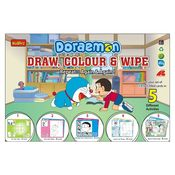Buddyz Doraemon Draw, Color And Wipe, multicolor