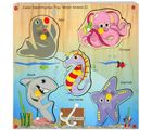 Skillo Junior Identification Tray (With Knobs) Water Animals Ii (Multicolor)