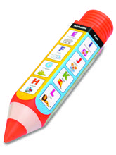 Buddyz Pencil - Shaped Pencil Box - A to Z for Kids, multicolor