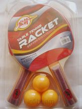 2 Table Tennis Rackets+ 3 Balls (Blister Pack)