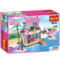 Saffire Dream Girls Beach Villa Building Set - 423 Pieces, multicolor